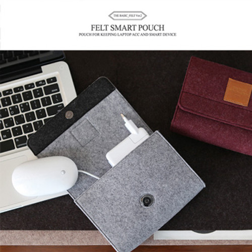 The Basic Felt Smart Pouch