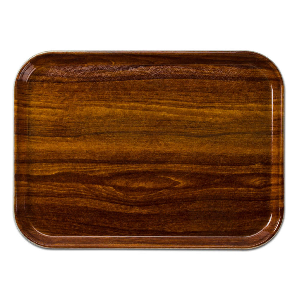 teak look serving tray