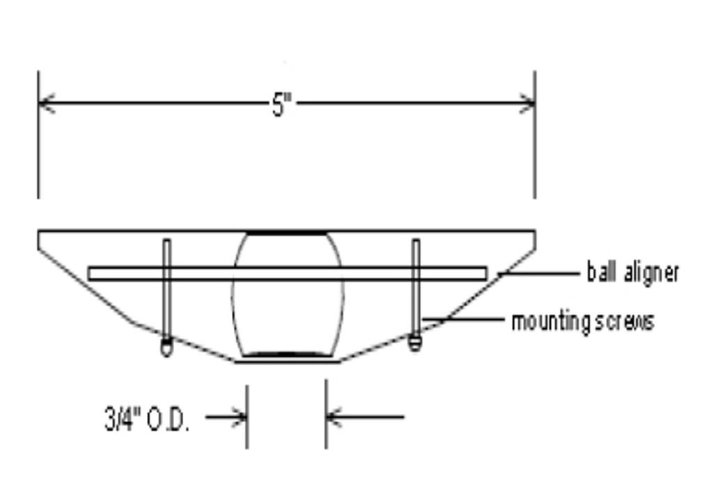 Special Ball-aligner Canopy for Sloped Ceilings