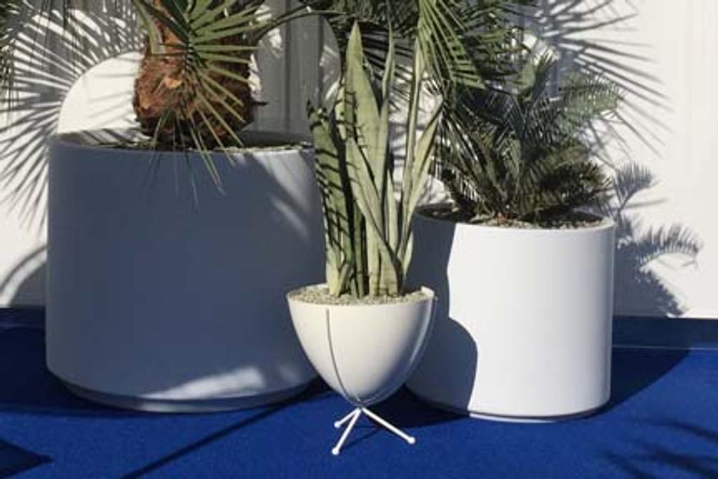 Short White with White Bowl