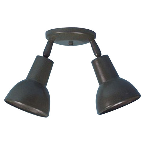 Double Bell-shade Ceiling Fixture