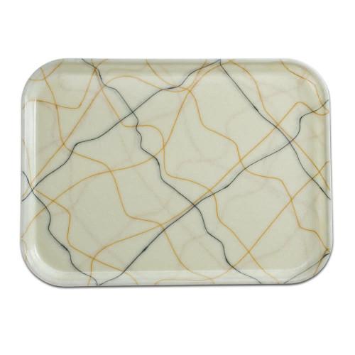Fiberglass Tray in Gold/Black Swirl Pattern (various sizes)