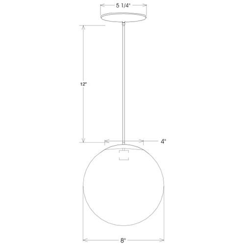 8 inch globe pendant dimensions