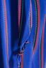 vintage 80s faux wrap silk dress blue red green stripes slinky soft belted LARGE L
