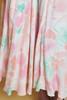 LANVIN dress flowy oversize draped midi watercolor floral print pink vintage 70s SMALL MEDIUM S M