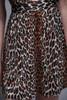 leopard babydoll micro mini dress lingerie racer back vintage 70s MEDIUM M