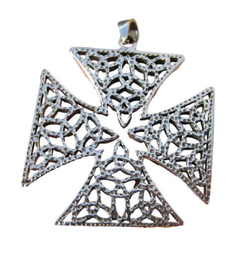925 silver celtic knights templar iron cross pendant necklace a12 aloadofball Image collections