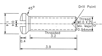 SM402 Nosepad Screw 1.0mm Thread (SM402)
