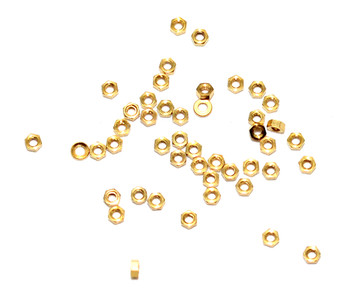 SA101 Rimless Hex Nut, Gold Finish, 100 count