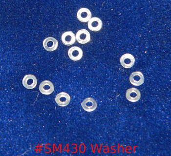 Washer, clear plastic, ID (Inside hole) 1.4mm, OD (outside diameter) 3mm, thickness .5mm sold in 100 count packages. Application separate  head of screw from the lens or other part.