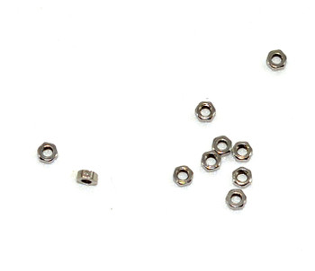 SM204 Hex Nuts; 1.4mm Thread SS 100 count