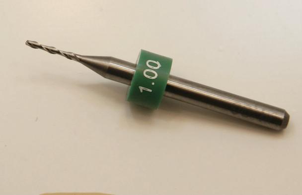 """Edger milling cutter: Cutter diameter 1.00mm, length of cut 6.50mm, shank 1/8"""" 3.16mm, overall length 38mm (1.50"""") $19.95 each for 1-9,  $17.95 each for 10-24,  $15.95 each for 25-99,  $13.95 each for 100+"""