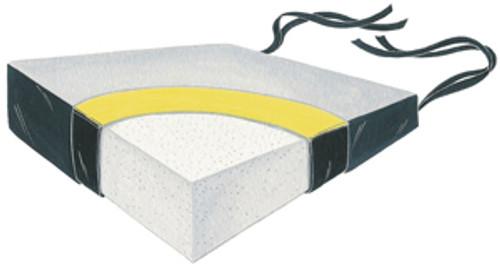 """Wedge Gel-Foam Soft Foundation 18"""" Two Color Vinyl Cushion w/Polyester Cvr, 6x3"""""""