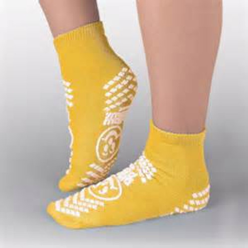 Large, Yellow, Anti-Skid Socks
