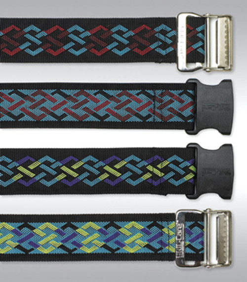 Nylon Gait Belt, Metal Buckle - Geo Pattern B