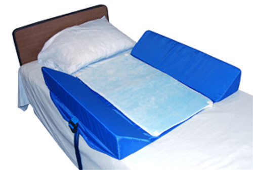 Bed Support System w/Attached 30-Degree Bolsters & Mesh Pad