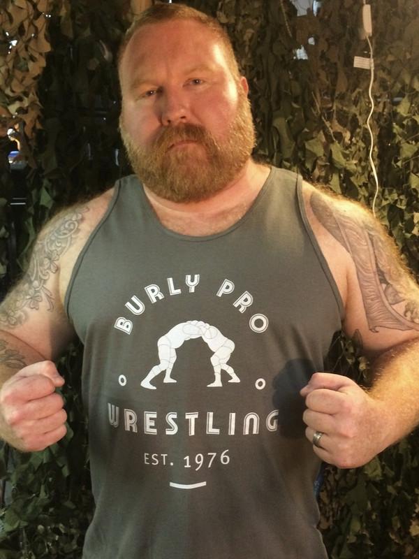 Burly Pro Wrestling Vintage Logo T