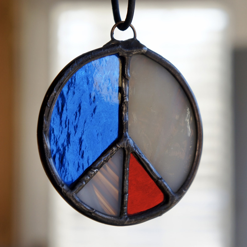 Stained Glass Peace Sign 48