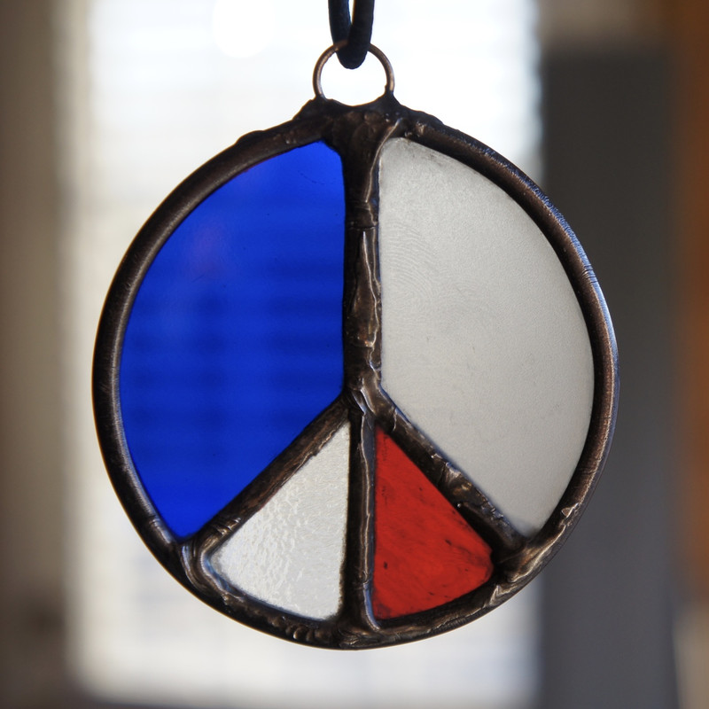 Stained Glass Peace Sign 53
