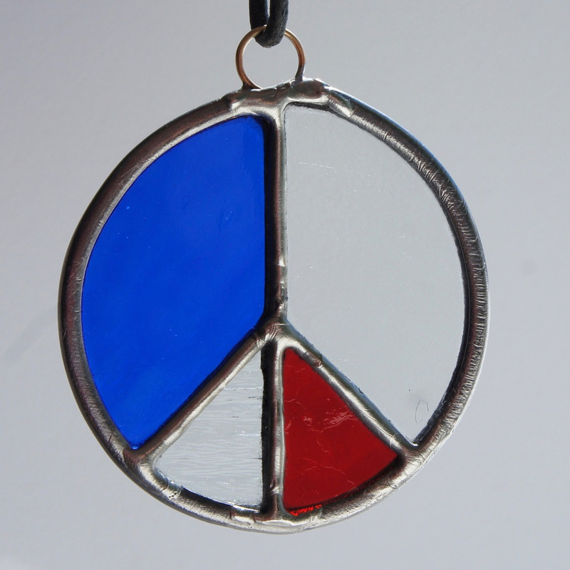 Stained Glass Peace Sign 82