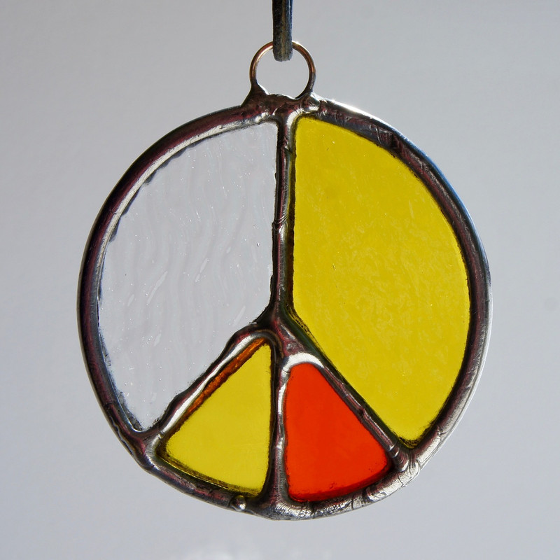 Stained Glass Peace Sign 99