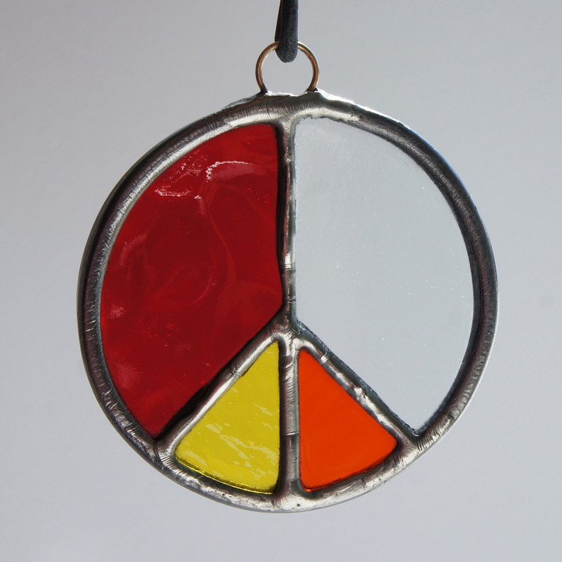 Stained Glass Peace Sign 100