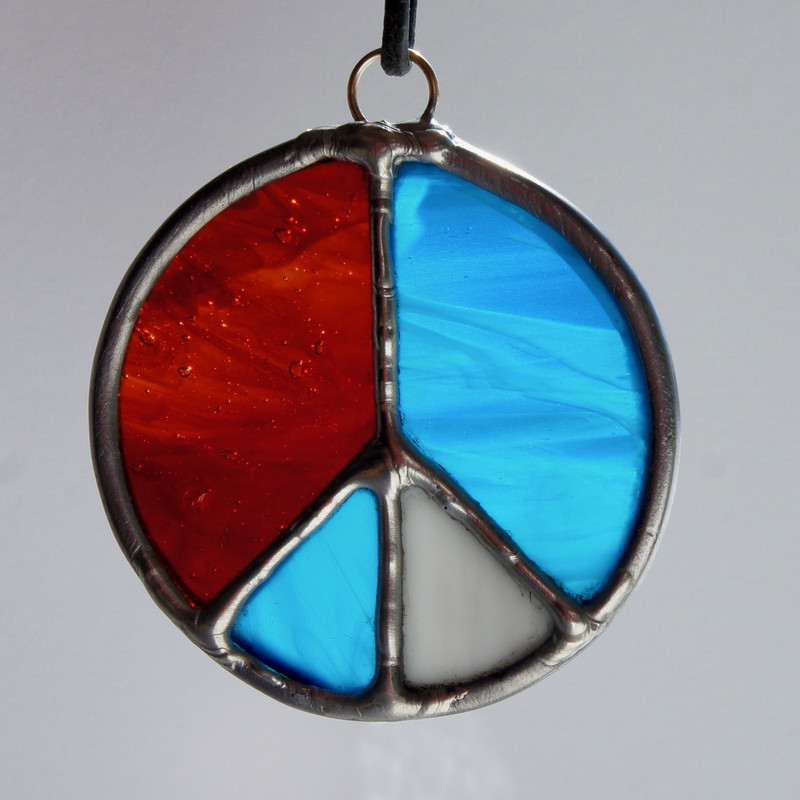 Stained Glass Peace Sign 113