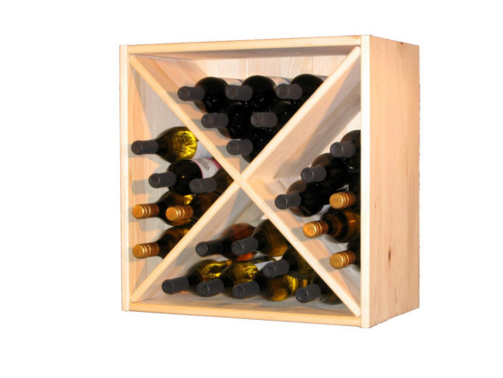 Wine Cube Solid Pine with real pine tongue and groove backing.