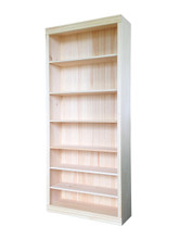 """Unfinished Pine Bookcase 