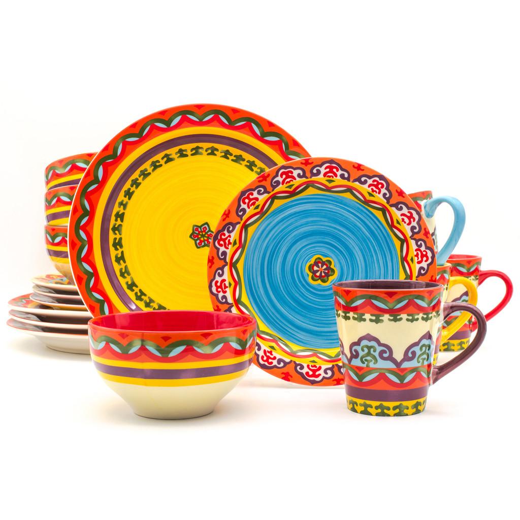 Galicia 16 Piece Dinnerware Set, Service for 4