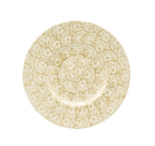 Chloe Floral Accent Dessert Plates in Beige, Set of 4