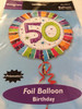 3x Anagram 50 Foil Balloon Birthday