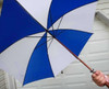 Gigantic 60'' Wooden Shaft Golf Umbrellas (you won't be a human lightening rod with this beauty!)