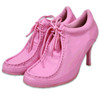 (Choose Size) CA Collection Carrini Pink Boat High Heel Sneakers Shoes - Carinni