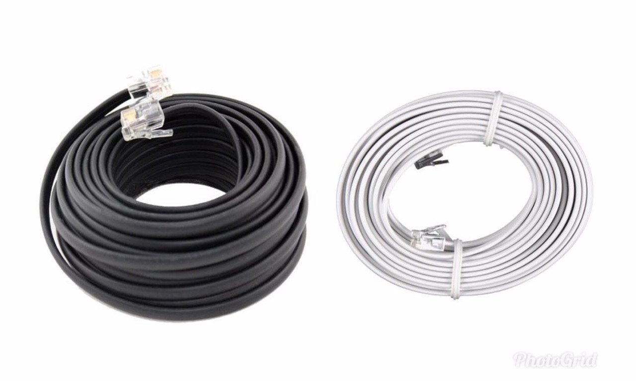 50 FT Feet RJ11C Modular Telephone Extension Phone Cord Cable Line ...