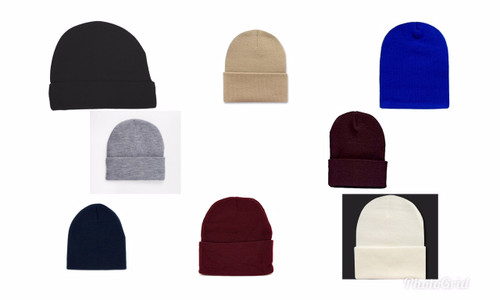 (Choose Color) Beanie Ski Hats  - Toasty Warm - One Size Fits Skull Caps