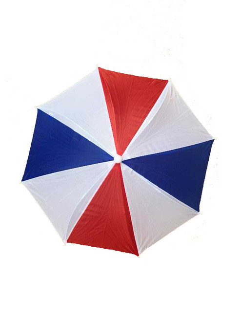 Headwear Umbrella Hat (Red-White-Blue) (RWB) Patriotic Beach Sun Rain Fishing Camping Hunting