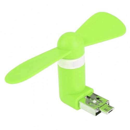 2in1 android Micro-USB portable cooling cooler fans/fan- Green