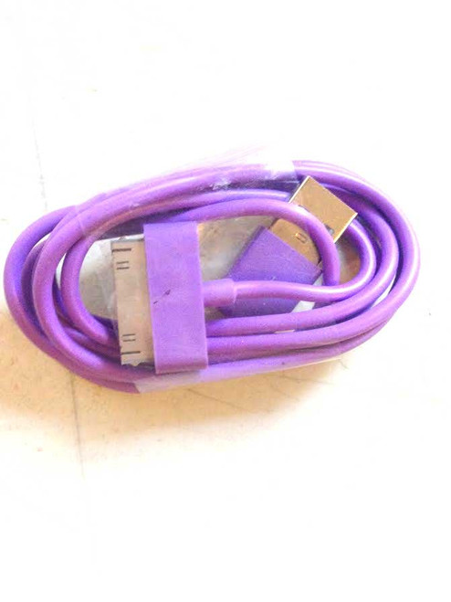 iPhone 4/iPad/iPod 3ft 30 pin Charging Cable PURPLE