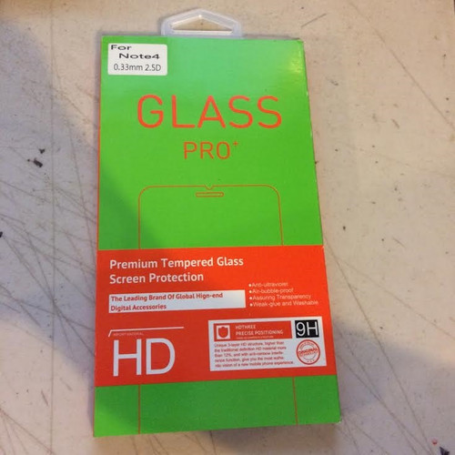 Glass Pro for Note 4- 0.33 2.5 D