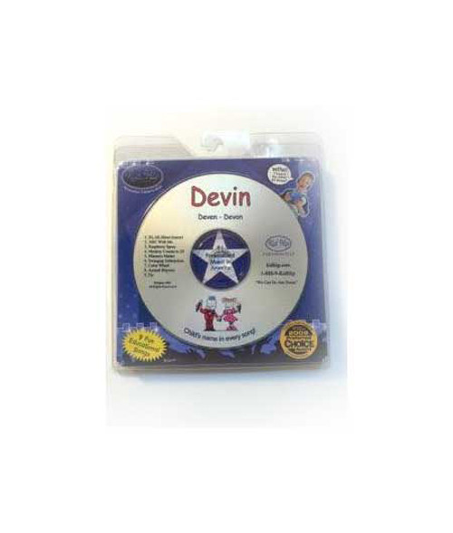 KID HIP Personalized Name (Devin) CD- Hear Your Child's Name 50x In The Music