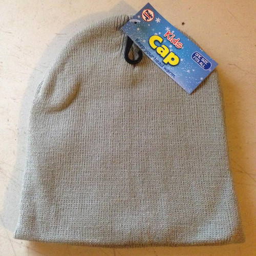 Kids Cap One Size Fits All : Gray