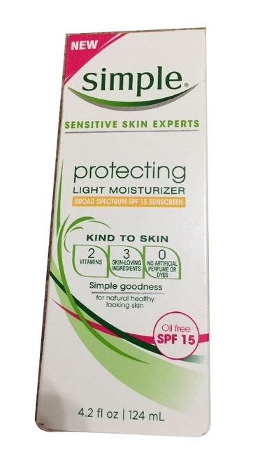 NEW SIMPLE SENSITIVE SKIN with Spectrum SPF 15 Sunscreen 4.2 fl oz