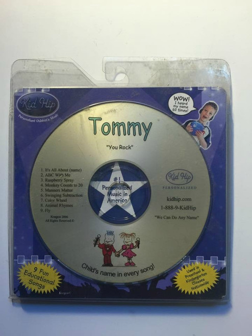 KID HIP Personalized Name (Tommy) CD- Hear Your Child's Name 50x In The Music