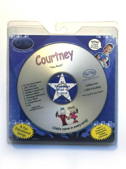 KID HIP Personalized Name (Courtney) CD- Hear Your Child's Name 50x In The Music