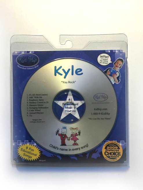 KID HIP Personalized Name (Kyle) CD- Hear Your Child's Name 50x In The Music
