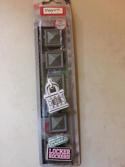 Magnets Locker Rockers Gray Square