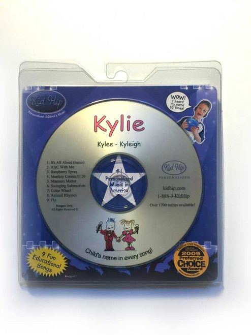 KID HIP Personalized Name (Kylie) CD- Hear Your Child's Name 50x In The Music