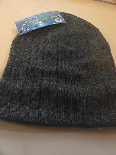Ladies/ Men Unisex Beanie Stripe Ski Hat Gray