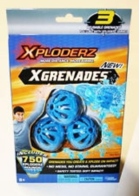 Xploderz Xgrenades 3 Reusable Grenades 750 Xploderz Rounds 45213 Ammo